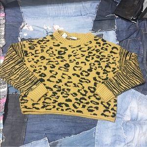 New / Zara leopard zebra print sweater